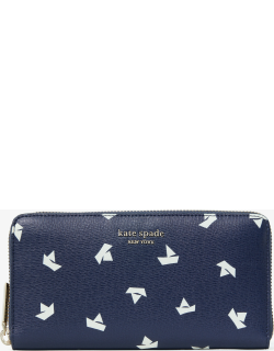 Spencer Paper Boats Zip-Around Continental Wallet - Squid Ink Multi - One