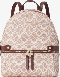 Spade Flower Coated Canvas Day Pack Medium Backpack - Multi - One