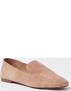 Ann Taylor Step Back Suede Smoking Slippers