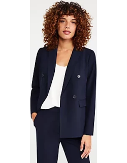 Ann Taylor The Double Breasted Blazer in Seasonless Stretch