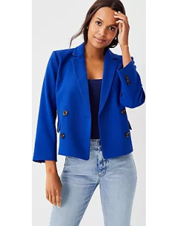 Ann Taylor Petite Cropped Double Breasted Jacket