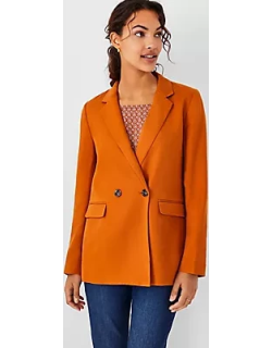 Ann Taylor The Relaxed Double Breasted Long Blazer
