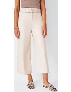 Ann Taylor The Faux Leather Belted Culotte Pant