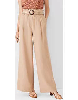 Ann Taylor The Tall Belted Wide Leg Pant