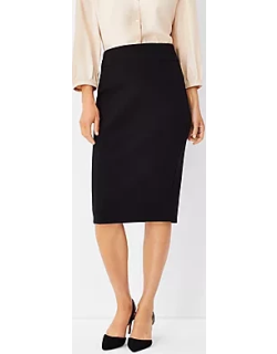 Ann Taylor The High Waist Seamed Pencil Skirt in Double Knit