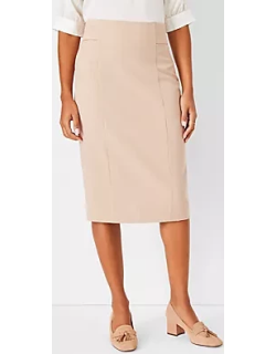 Ann Taylor The High Waist Seamed Pencil Skirt in Houndstooth