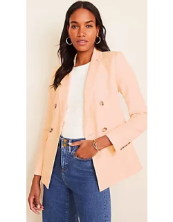 Ann Taylor Petite Long Double Breasted Blazer