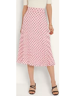 Ann Taylor Floral Smocked Pleated Skirt