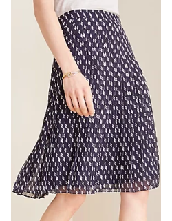 Ann Taylor Dashed Pleated Skirt
