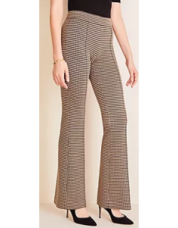 Ann Taylor Petite Houndstooth Knit Flare Trousers