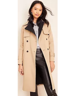 Ann Taylor Two Tone Belted Trench Coat