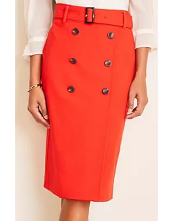 Ann Taylor Petite Trench Pencil Skirt