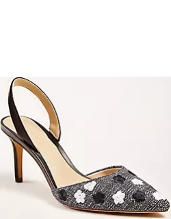 Ann Taylor Kerry Floral Embroidered Slingback Pumps