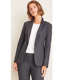Ann Taylor The Petite One-Button Blazer in Tropical Wool