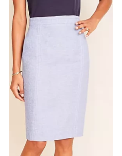 Ann Taylor The Petite Seamed Pencil Skirt in Linen Twill