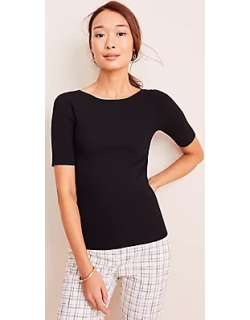 Ann Taylor Petite Boatneck Perfect Pullover