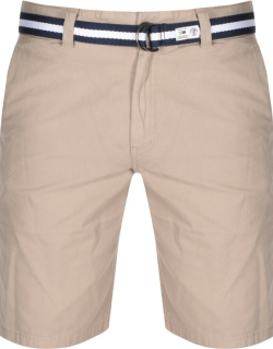 Tommy Jeans Belted Chino Shorts Khaki