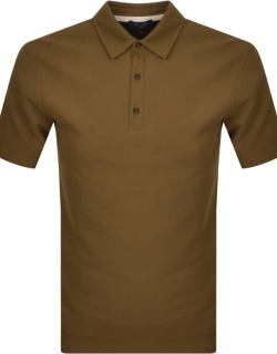 Ted Baker Strict Short Sleeve Polo Shirt Brown