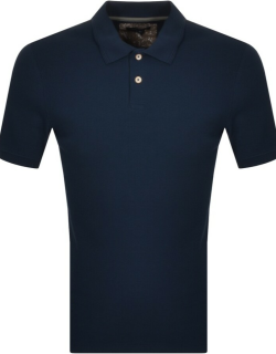 Ted Baker Waffle Textured Polo Shirt Navy