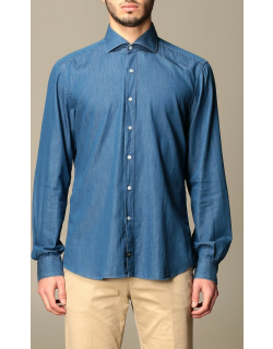 Fay denim shirt with French collar