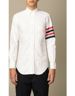 Thom Browne shirt in cotton with tricolor stripes