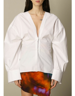 The Attico vneck shirt with maxi sleeves