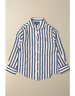 Fay striped cotton shirt with logo