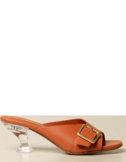 Tod's sandal in leather with buckle