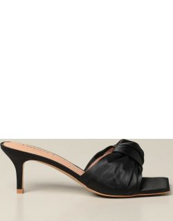 Twinset sandal in satin with maxi knot