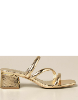 Michael Michael Kors sandal in leather with laminated reptile print