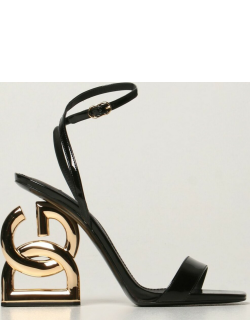 Dolce & Gabbana patent leather sandals with DG heel