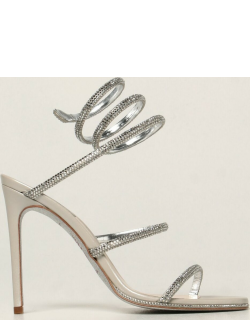 Cleo René Caovilla sandals in satin with crystals