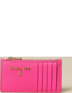 Patrizia Pepe credit card holder in leather with zip