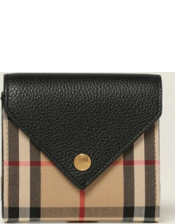 Continental Burberry wallet in check canvas and leather