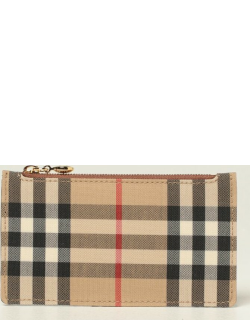 Burberry credit card holder in canvas and leather