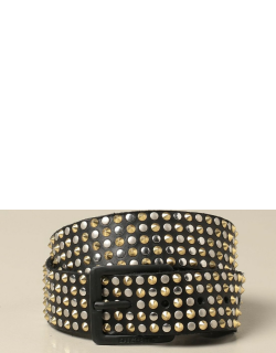 Diesel leather belt with all over micro studs