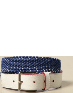 Classic Fay belt in leather with woven section
