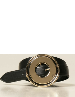 Paco Rabanne leather belt with maxi buckle