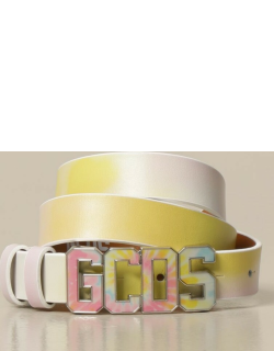 GCDS belt in colored leather