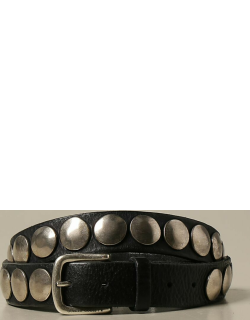 Golden Goose leather belt with maxi studs