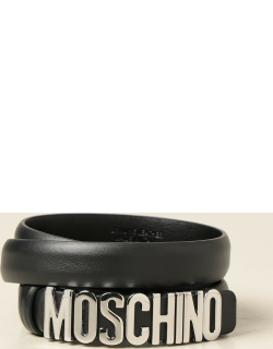 Moschino Boutique leather belt with big logo