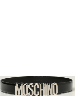 Moschino Couture belt in patent leather with big logo