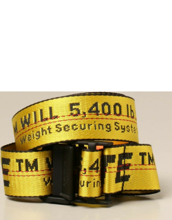Off White belt in logoed canvas