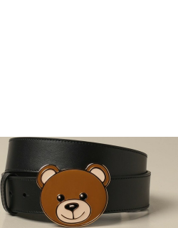 Moschino Couture leather belt with Teddy buckle