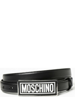 Moschino Couture leather belt with logo