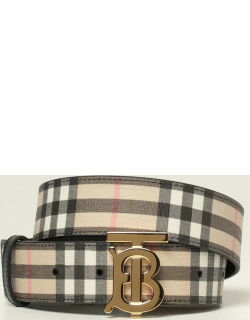 Burberry belt in Ecanvas with check pattern