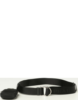Prada belt in logoed ribbon with mini container
