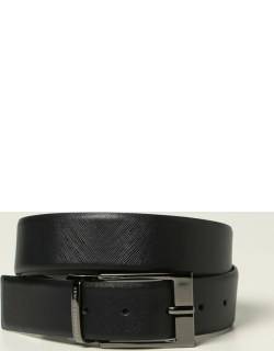 Armani Exchange reversible belt in saffiano leather