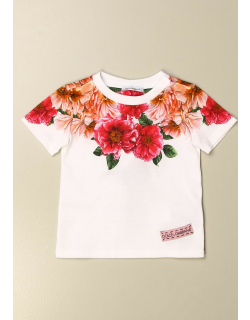 Dolce & Gabbana cotton Tshirt with floral print