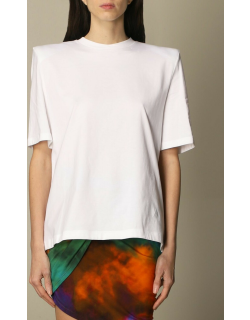 The Attico Tshirt in cotton with maxi shoulders